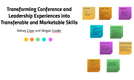 Transforming Conference and Leadership Experiences into Tran