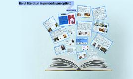 Rolul literaturi in perioada pasoptista
