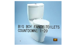 BIG BOY FANCY TOILETS!
