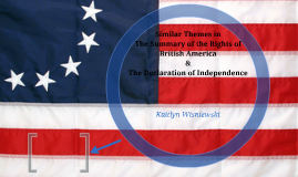 Similar Themes in The Summary of the Rights of British Ameri