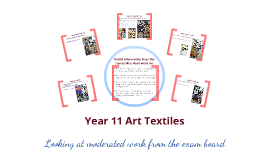 Art Textiles Standardisation Feedback
