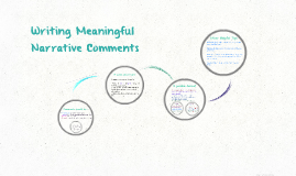 Writing Meaningful Narrative Comments