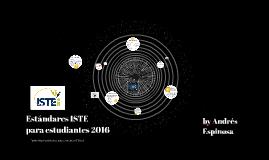 Estándares ISTE para Estudiantes 2016