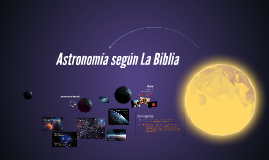 Astronomía según La Biblia