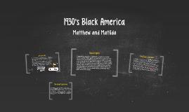 1930's Black America