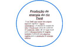 Produção de energia no rio Tietê
