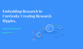 Embedding Research in Curricula