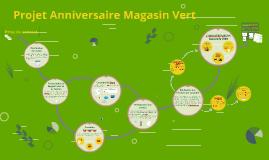 Démarche du projet Anniversaire Magasin Vert