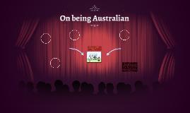 On being Australian