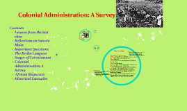 Colonial Administration: A Survey