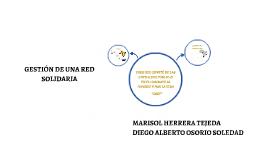 GESTIÓN DE UNA RED SOLIDARIA
