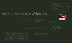 Religious Background In Afghanistan