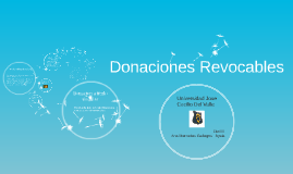 Donaciones Revocables