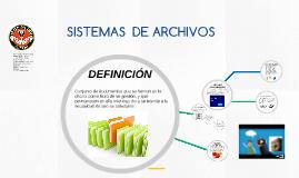 SISTEMAS DE CLASIFICACIÓN DE ARCHIVOS
