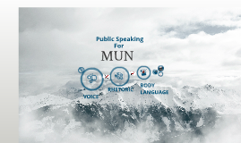 Public Speaking for MUN 2013