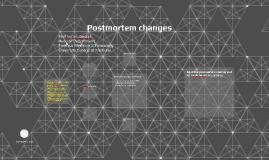 Postmortem changes-1