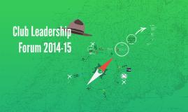 Social Services Club Leadership Forum 2014-15
