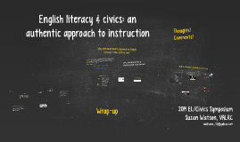 English literacy & civics: an authentic approach to instruction