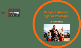 Refuge in America: Right or Priviledge
