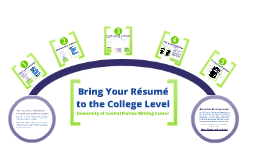 Bring Your Resume to the College Level