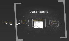 Effect Size-Single Case