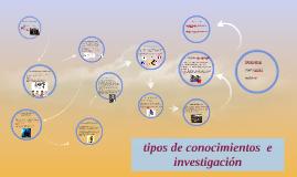tipos de conocimientos  e investigacion