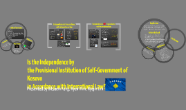 Self-Declaratory Independence of Kosovo: Legality