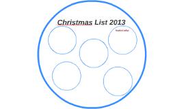 Christmas List 2013