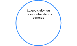 La evolución de los modelos de los cosmos
