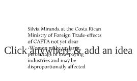 The effects of CAFTA on women in Costa Rica