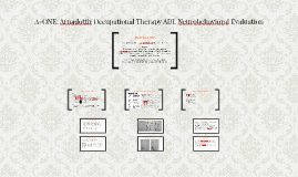 A-ONE: Arnadottir Occupational Therapy Neurobehavioral Evalu