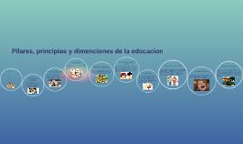 Copy of Principios, pilares y deciones de la educaion