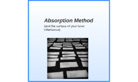 Absorption Method