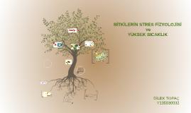 BİTKİLER DE STRES FİZYOLOJİSİ