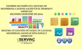 2 SEMESTRE DE  2016 INFORME DE REVISIÓN GERENCIAL