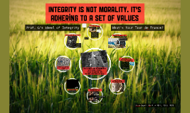INTEGRITY : Making Sense of Classroom Learning