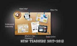 New Teachers 2017 2018
