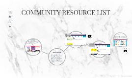 COMMUNITY RESOURCE LIST