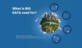 Copy of Applications of BIG DATA