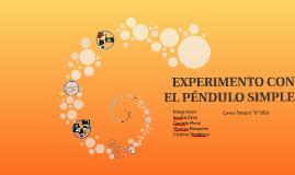EXPERIMENTO DEL PÉNDULO