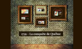 1759 - La conquête de Québec