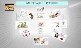 Copy of Técnicas PARA EL MONTAJE DE POSTRES