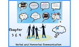 Chapter 3 & 4 - Verbal and Nonverbal Communication