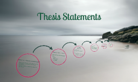 Copy of Thesis Statements