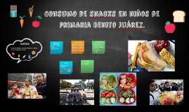 Consumo de snacks en niños de primaria Benito Juárez.