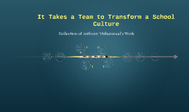 It Takes a Team to Transform a School Culture