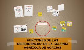FUNCIONES DE LAS DEPENDENCIAS DE LA COLONIA ÁGRICOLA DE ACAC