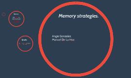 Memory strategies.