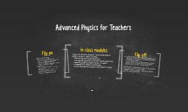 Advanced Physics for Teachers