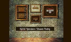 iGCSE Literature: Unseen Poetry
